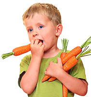 kid and carrot